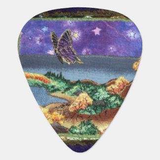 Night Time Butterfly Guitar Pick