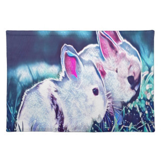 Night Time Dwarf Bunnies Placemat