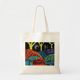 Night-time Hills and Trees (with posca) by Johnny Tote Bag