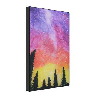Night Time Nebula Canvas Print