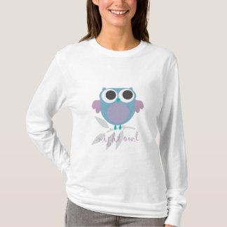 night time night owl pajama top