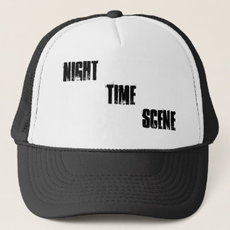 NIGHT TIME SCENE TRUCKER HAT