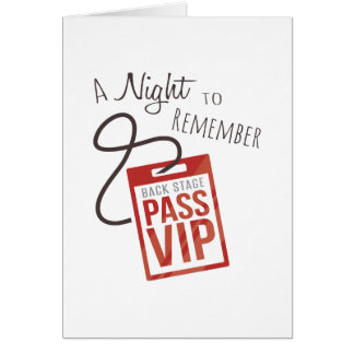 Night to Remember Greeting Card