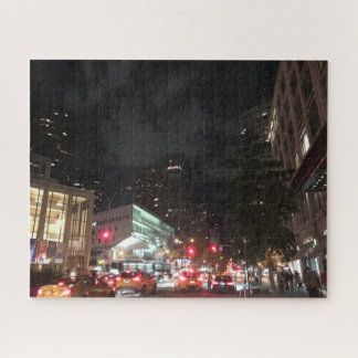 Night Traffic at Lincoln Center New York City NYC Jigsaw Puzzle