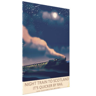 Night train to Scotland Canvas Print