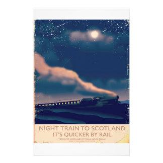 Night train to Scotland Customized Stationery