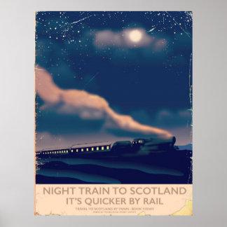 Night train to Scotland Poster