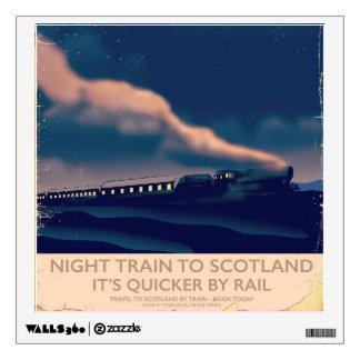 Night train to Scotland Wall Decal