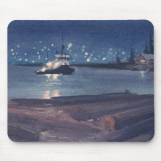 NIGHT TUG by SHARON SHARPE Mouse Pad