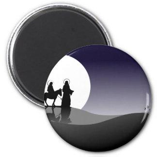 Night view 2 inch round magnet