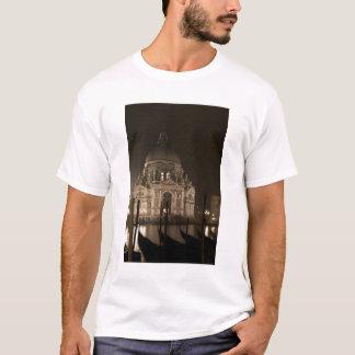 Night view across water of San Giorgio Maggiore T-Shirt