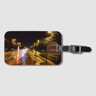 Night view at colorful fountain in Bucharest Luggage Tag