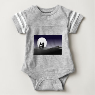 Night view baby bodysuit