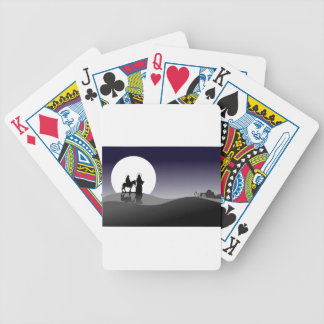 Night view bicycle playing cards