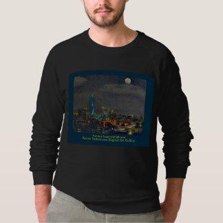 Night view: Fukuoka Tower with FULL moon Sweatshirt