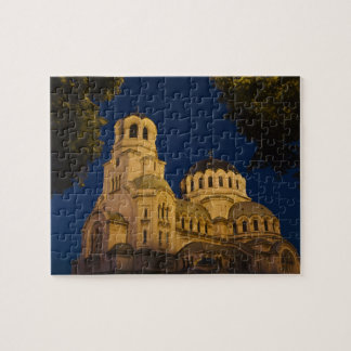 Night view of Alexander Nevski Cathedral Jigsaw Puzzle