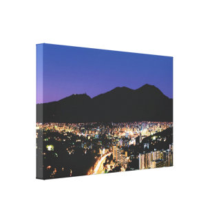 Night view of Caracas, Vzla Canvas Print