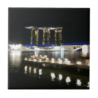 Night view of city ceramic tile