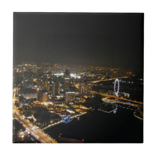 Night view of city tiles