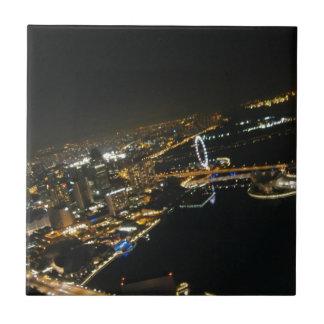 night view of city ceramic tiles