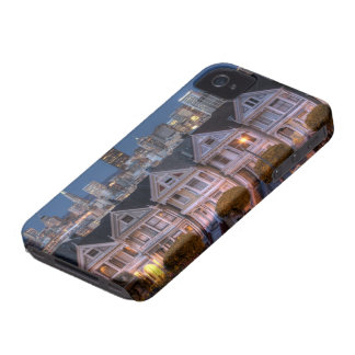 Night view of painted ladies houses Case-Mate iPhone 4 cases