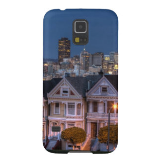 Night view of painted ladies houses cases for galaxy s5
