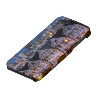 Night view of 'painted ladies'  houses cover for iPhone 5/5S