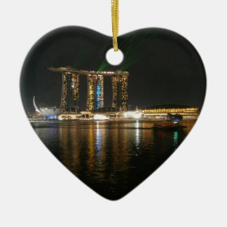Night view of Singapore Ceramic Ornament