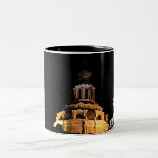 Night Vilnius roofs Two-Tone Coffee Mug