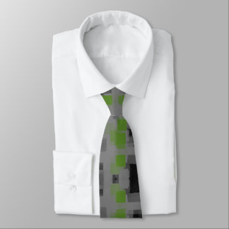 """Night Vision"" Geometric Abstract Tie"