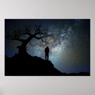 Night Walk in the Stars Poster