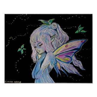 Night Watch Fairy by Carol Zeock Poster
