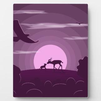Night wild life plaque