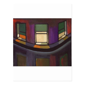 NIGHT WINDOWS POSTCARD