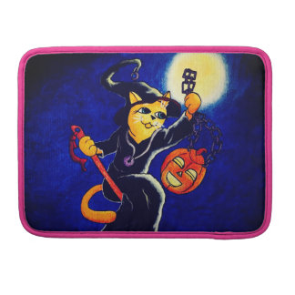 Night Witch Cat Sleeve For MacBook Pro
