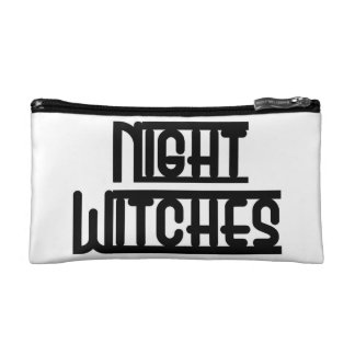 Night Witches Small Cosmetic Bag White