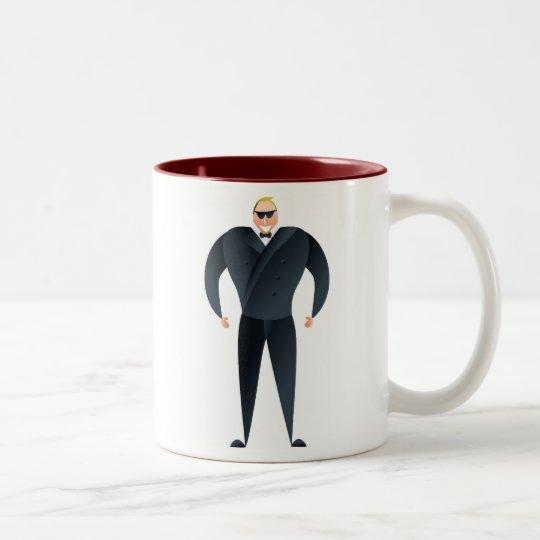 Nightclub Bouncer Two-Tone Coffee Mug