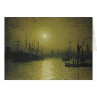 Nightfall Down the Thames Card