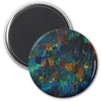 Nightfall on hillside 2 inch round magnet