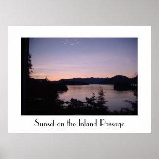 Nightfall on the Inland Passage British Columbia Poster