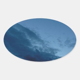 Nightfall Oval Sticker