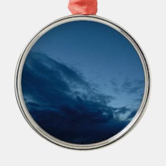 Nightfall Silver-Colored Round Ornament
