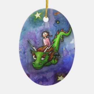 Nightflight Ceramic Ornament
