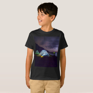 nightime wilderness camping surreal fantasy tshirt