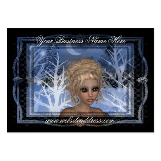 Nightime Winter Elf Fantasy Business Card