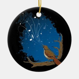 Nightingale Song Ceramic Ornament