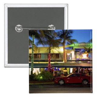 Nightlife on Ocean Drive, South Beach, Miami 2 Inch Square Button