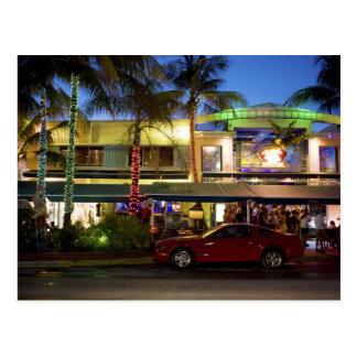 Nightlife on Ocean Drive, South Beach, Miami Postcard