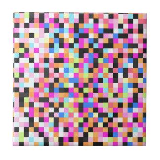 Nightlife (pixel funk) ceramic tiles