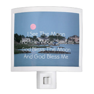 Nightlight For Childs Room I See The Moon Night Lite